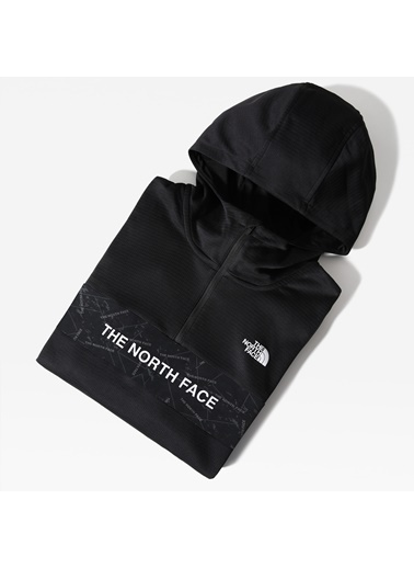 The North Face Erkek Hoodie Train Logo 1/4 Zip Nf0A4M9Xjk31 Siyah
